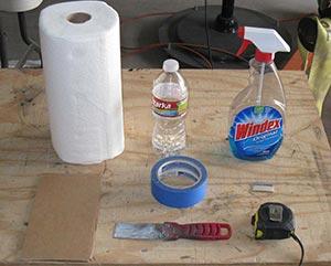 Supplies Needed for installing granite vases