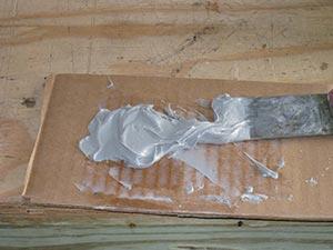 Make sur to thoroughly mix epoxy