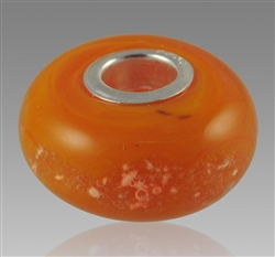 Orange Glass Cremation Bead for Pandora Bracelets